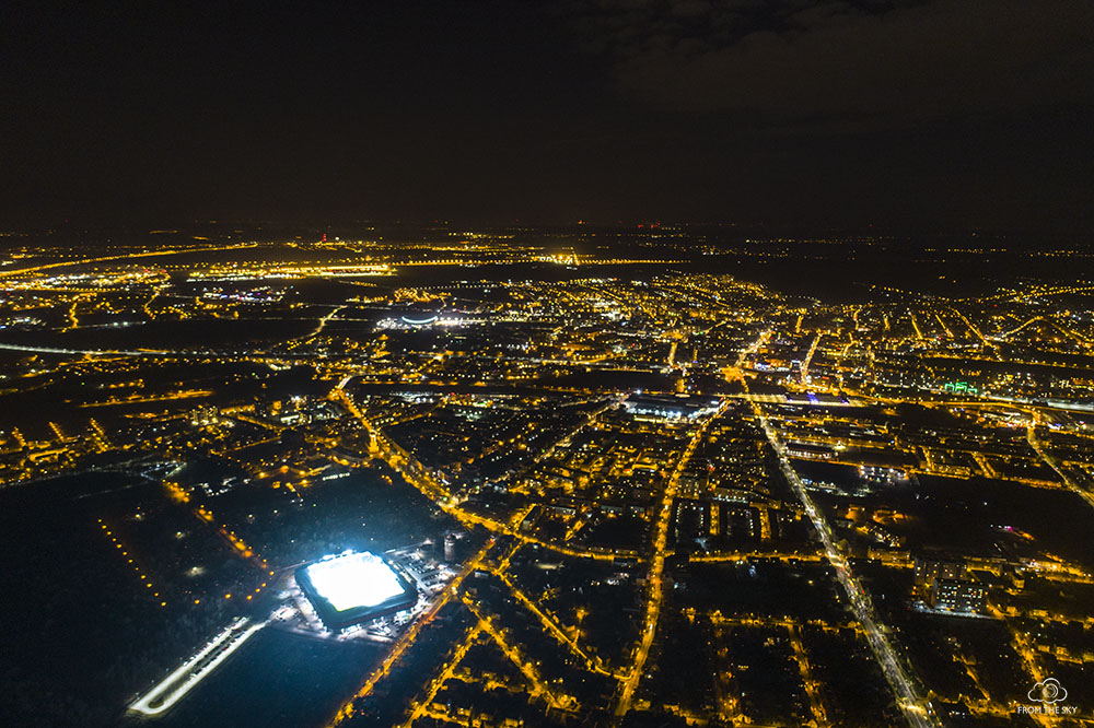 Nocna panorama Gliwic